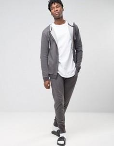 Джоггеры классического кроя с манжетами Esprit - Серый