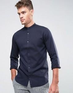 Фактурная рубашка узкого кроя Jack & Jones Premium - Темно-синий