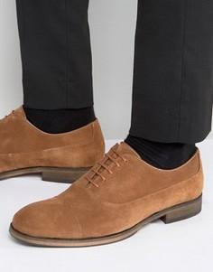 Кожаные оксфордские туфли Selected - Рыжий