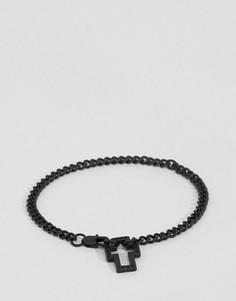 Черный браслет-цепочка Icon Brand - Черный