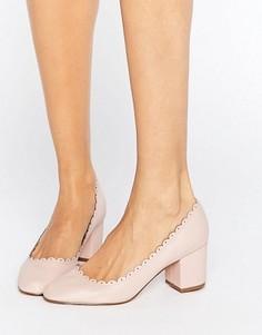 Туфли на каблуке с фактурной отделкой по краю ASOS SULTAN - Розовый