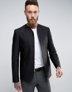 Узкая фактурная куртка с рубашечным воротником Hart Hollywood - Черный