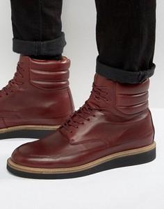 Кожаные ботинки на шнуровке Zign - Красный