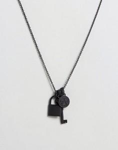 Ожерелье с подвесками Chained & Able - Черный