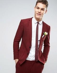 Трикотажный супероблегающий пиджак ASOS WEDDING - Красный