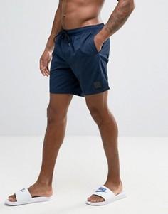 Темно-синие шорты для плавания с треугольной резиновой накладкой ASOS - Темно-синий