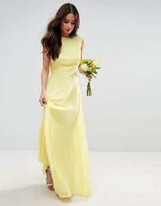 Платье макси ASOS WEDDING - Желтый