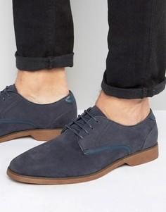 Темно-синие туфли из искусственной замши на шнуровке с отделкой ASOS - Темно-синий