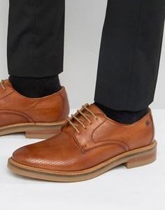 Кожаные туфли с перфорацией Base London Stanford - Рыжий