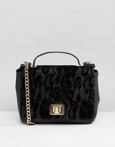 Кружевная сумка через плечо New Look - Черный