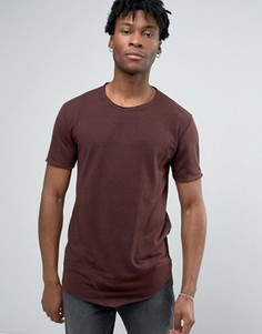 Длинная футболка Only & Sons - Красный