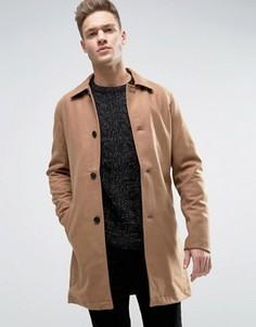 Шерстяное пальто Jack & Jones Originals - Бежевый