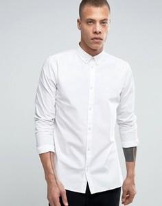 Рубашка узкого кроя Dr Denim Alvar - Белый