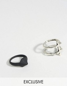 2 кольца с крестом и геометрическим дизайном DesignB эксклюзивно для ASOS - Мульти