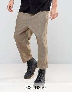 Свободные брюки Reclaimed Vintage - Коричневый