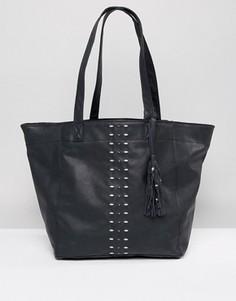 Черная сумка на плечо Hollister - Черный