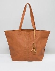 Светло-коричневая сумка на плечо Hollister - Рыжий