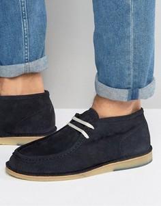 Замшевые ботинки чукка Selected Homme Ronni - Темно-синий