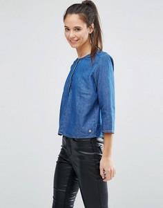 Рубашка с воротом на пуговице Only - Синий