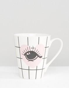 Фарфоровая кружка Miss Etoile Eyes Bone - Мульти