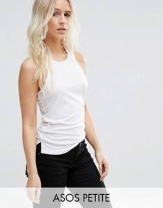 Майка в рубчик ASOS PETITE The Fancy - Белый