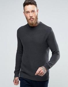 Джемпер с отделкой в рубчик на рукавах Weekday Axis - Серый