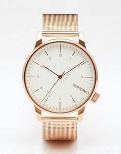 Часы из металла цвета розового золота Komono Winston Royale - Золотой