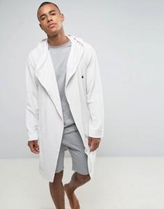 Махровый халат с логотипом ASOS - Белый