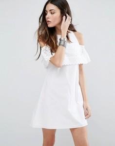 Сарафан с вышивкой ришелье ASOS - Белый