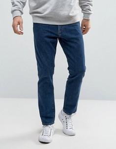 Выбеленные синие узкие жесткие джинсы Weekday Sharp - Синий