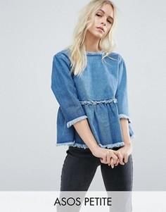 Свободный джинсовый топ ASOS PETITE - Синий
