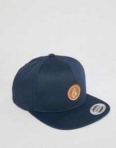 Саржевая бейсболка Volcom Quarter - Темно-синий