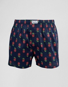 Тканые боксеры с ананасами Happy Socks - Синий