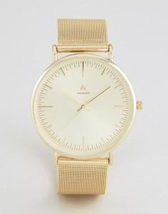 Золотистые часы с сетчатым браслетом ASOS - Золотой