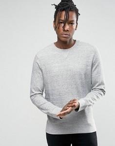 Свитшот из меланжевого трикотажа Selected Homme - Серый
