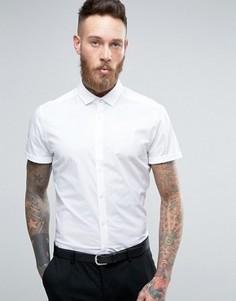 Белая узкая рубашка стретч ASOS - Белый