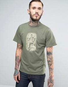 Зеленая футболка с принтом лес Columbia Ward Ridge - Зеленый