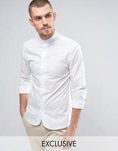 Зауженная рубашка в стиле ретро с закругленным низом Noak - Белый