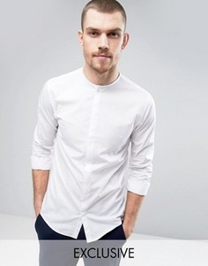 Строгая рубашка без воротника Noak - Белый