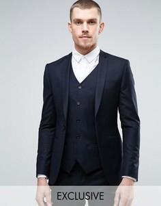 Супероблегающий пиджак Noak - Темно-синий