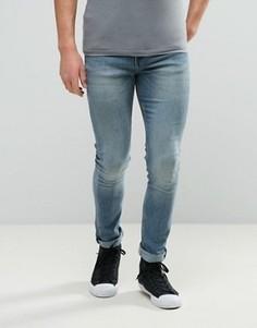 Узкие выбеленные джинсы Cheap Monday - Синий