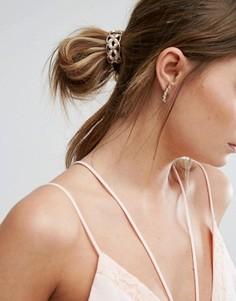 Резинка для волос с цветами из жемчуга True Decadence - Золотой