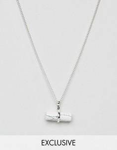 Ожерелье с подвеской DesignB London - Серебряный