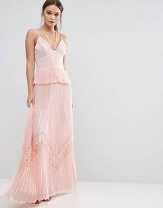 Плиссированное платье на бретельках True Decadence - Розовый