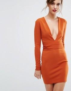 Платье с длинными рукавами и поясом Bec & Bridge India Rosa - Оранжевый