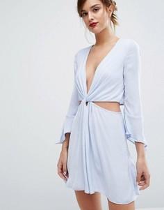 Голубое платье мини Bec & Bridge Blue Haze - Темно-синий
