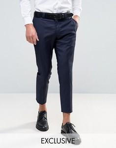 Укороченные суперузкие брюки Noak - Темно-синий