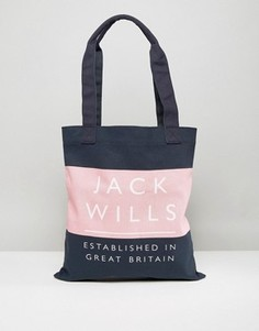 Сине-розовая сумка-тоут Jack Wills - Мульти