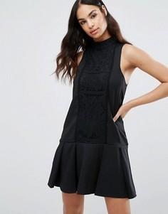 Платье с кружевной вставкой Missguided - Черный