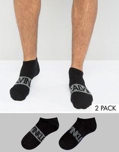 2 пары черных спортивных носков Calvin Klein - Черный